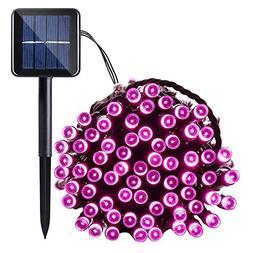 Qedertek Solar String Light, 33ft 100 LED 8 Modes Light Sens