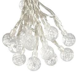 Solar Outdoor String Light, 50 LED of 5mm dia. with Round Pa