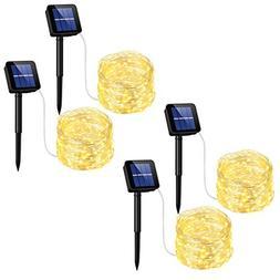 Mpow Solar String Lights, 33ft 100LED Outdoor String Lights,