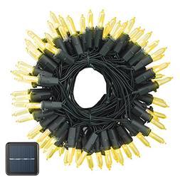 Vmanoo Solar String Lights 100 LED M5 Clear Mini Fairy Chris
