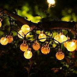 Solar String Lights, 19.7feet 40 LED Crystal Ball Fairy Ligh
