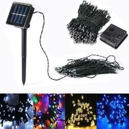 solar string lights 200 500 led solar