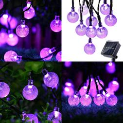 Solar String Lights 20Ft 30 LED Outdoor Globe 8 Modes Xmas D