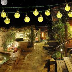 EasyDecor Solar String Lights 30 LED Ball 21ft Warm Cool Whi