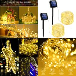 Solar String Lights 33Ft 100LED Outdoor Waterproof Decorativ