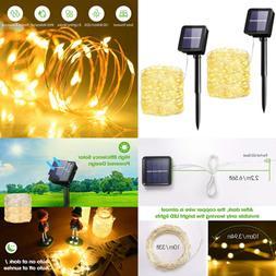 Solar String Lights 33Ft 100LED Outdoor Waterproof Decorativ