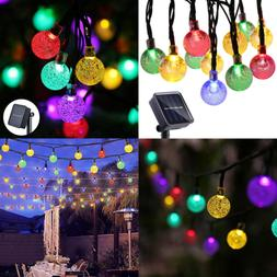 Solar String Lights 50 LED 23Ft Patio W 8 Modes Waterproof C