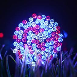 Solar String Lights 72 Ft 200 LED 8 Modes July 4th Celebrate