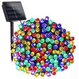 Joomer Solar String Lights 72ft 200 LED 8 Modes 1 Pack, Mult