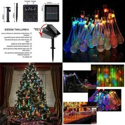 Solar String Lights 8 Modes Multi Color Changing Teardrop 30