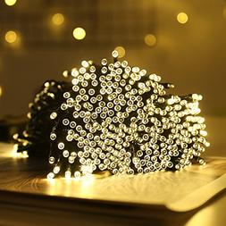 FUNIAO 2 Pack Solar String Lights,66ft 200Led Holiday String