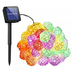 Mpow Solar String Lights, 21ft 30 LEDs Waterproof Outdoor St