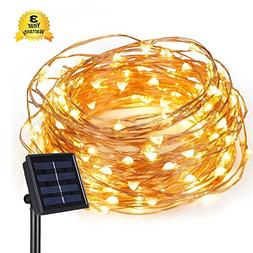Geefawa Solar String Lights 66ft Copper Wire Lights 200 LED