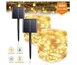 Solar String Lights Outdoor, 2-Pack Upgraded 8 Modes&Total 4