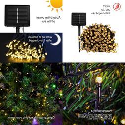 Solar String Lights Outdoor 8 Modes 65.3 Ft 200 Led Mini War