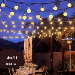 Solar String Lights Waterproof 30 LED Crystal Globe Lamp  Ou