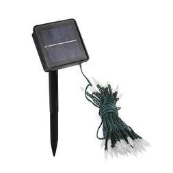 Solar String Lights White 24 Feet 50 LED Fairy Lamp 2 Mode W