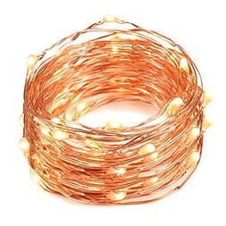cjsolar Solar String Lights ,Bendable Copper Wire High Effic