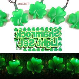 St Patrick's Day Light String Set, Irish Clover Bar/Patio Li