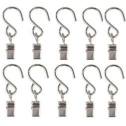 Gimvavo 50 Pack Stainless Steel Clip Hangers, S Shaped Hooks