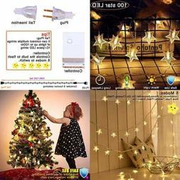 Star String Lights 100 LED 40 FT Plug In Fairy Waterproof Ex