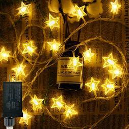 Star String Lights, 100 LED Plug in String Lights 33 feet 8