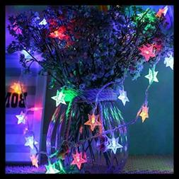 Star String Lights 32.8Ft 100 Plug In LED Color Changing Fai