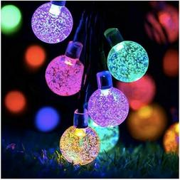 Starry Bulbs String Solar LED Lights 30 Globes Fairy Decora