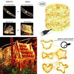 Starry Fairy Copper String Lights 66 Ft 200Leds USB Powered