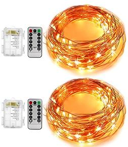 KINGTOP Starry String Lights 2 Pack 16.4Ft 50 LEDs Flexible
