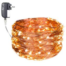 40 Ft 120 LED Fairy Lights Waterproof Starry Firefly String