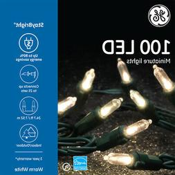 GE StayBright 100-Count Warm White Mini LED String Lights Ch