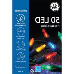 GE StayBright 100-Count 24.75-ft Constant Multicolor Mini LE