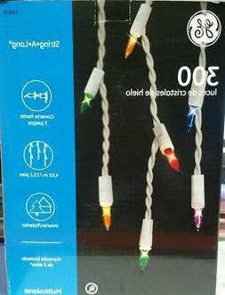 GE String-A-Long 300-Light Multi-Color Icicle Light Set