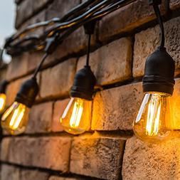 Outdoor String Lights LED 48 Feet Advanced Weatherproof Desi