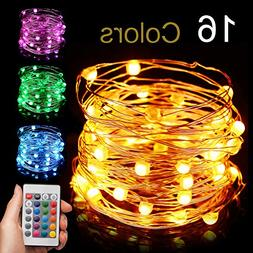 Led String Light Battery Powered, Multi 16 Color Changing 16
