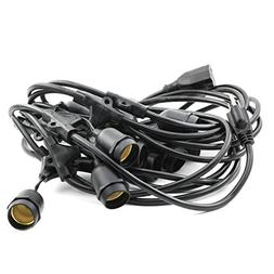 String Light Cord 25 Feet Weatherproof Commercial Grade with