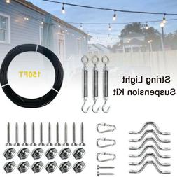 String Light Hanging Kit Globe Suspension Outdoor Guide Wire