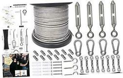 String Light Hanging Kit,Guide Wire for Outdoor String Lig