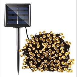Outdoor String Light Solar Powered Waterproof 200 LED 1200mA