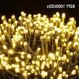 string lights 1000 leds christmas