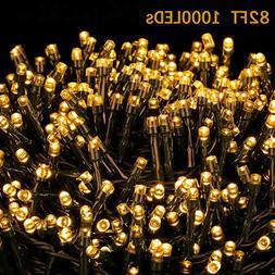 Novtech LED String Lights 82FT 1000 LEDs Christmas Lights In