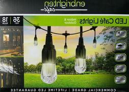 36' String Lights 18 LED Bulbs Hanging Outdoor Weatherproof