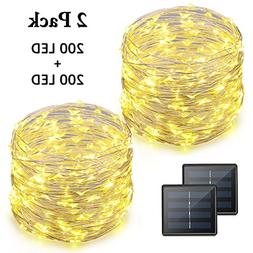 Vmanoo LED String Lights 72 Feet 200 LED Solar Powered Coppe