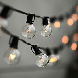 String Lights, Lampat 25Ft G40 Globe String Lights with Bulb