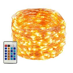 Weico LED String Lights 99ft 300 LEDs Dimmable with Remote C