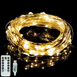 Vinsco String Lights, Plug in USB Powered 33ft/10M 100 LED C