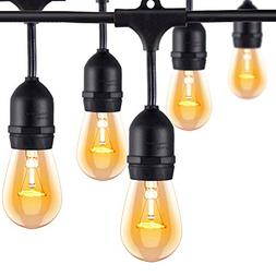 Outdoor String Lights For Patio Commercial LED Bulbs Waterpr