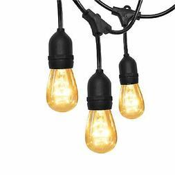 SUPERDANNY 52FT Outdoor String Lights Commercial Grade UL We