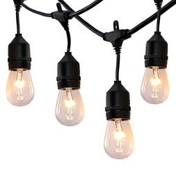 52 ft Outdoor String Lights Commercial Grade Weatherproof -